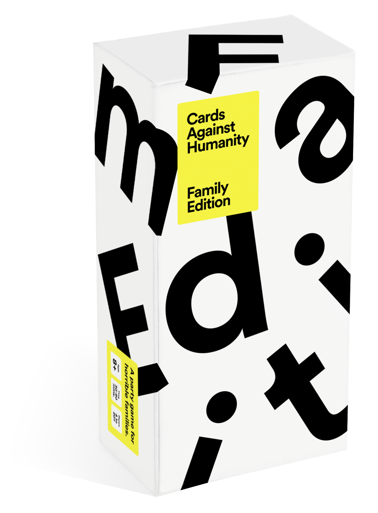 Product shot of the Cards Against Humanity Family Edition